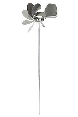 "225cm Stiel-Länge A1006/_225 steel4you Windrad /""Speedy65 plus/"" aus Edelstahl m"