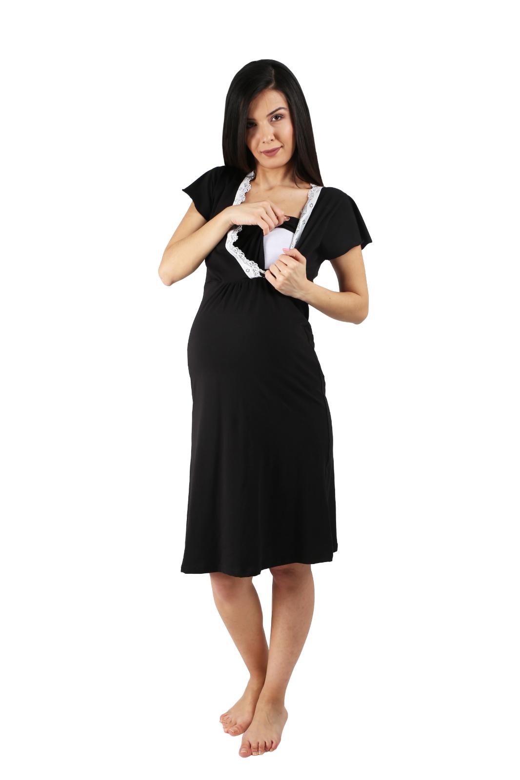 df1676569c Stillpyjama Damen Schlafanzug für Schwangerschaft Nachthemd Stillfunktion  Pyjama 7 7 von 8 ...