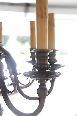 Vintage French Solid Bronze Eight-Arm Chandelier Griffin/Gargoyle/Grotesque 4