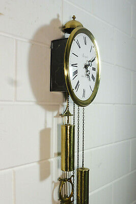 Comtoise Wall Clock Dutch Movement Vintage Old Clock 9
