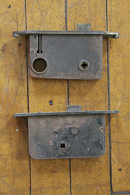 2 Antique Brass Mortise Locks 7022 4