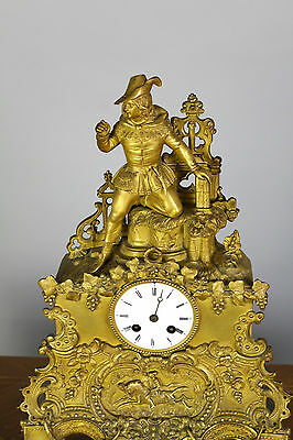 A French Gilt Bronze Mantle Clock 3