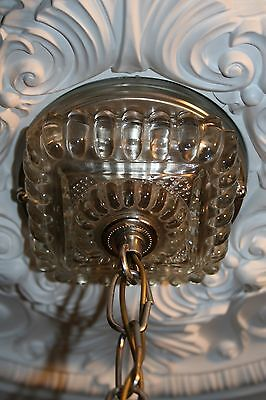 Antique large square frosted glass art deco custom light fixture chandelier 11