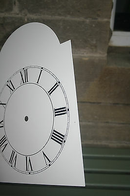 VINTAGE ENAMEL STYLE CLOCK FACE   REPLACEMENT PAINTED ON ALUMINIUM VGC m 5