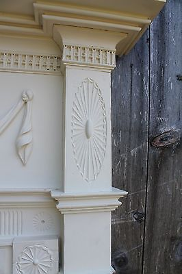 18th Century Fireplace Mantel Chip Carved Pinwheels, Ovals, W Added Swags,Basket 4