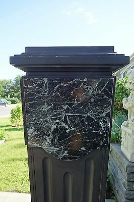 French Art Deco Period Monumental Marble/Slate Pedestal 7