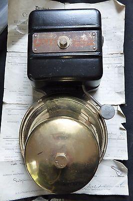 Restored Vintage Wood & Brass Electric Doorbell - 6 - 12 volts 2
