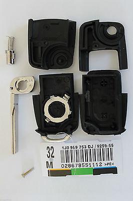 Boitier COQUE clé télécommande VW Seat Skoda Golf 5 Passat Polo Leon ibiza 3BTNS 2
