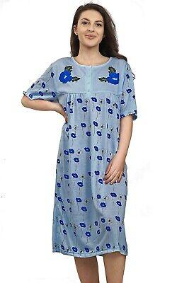 Ladies Night Gown Nightshirt Floral Short Sleeve Plus Size PJ Nightie Nightwear. 5