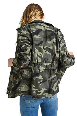 S to XL NWT 2SABLE fashion CAMOUFLAGE MILITARY ANORAK CAMO JACKET army USA