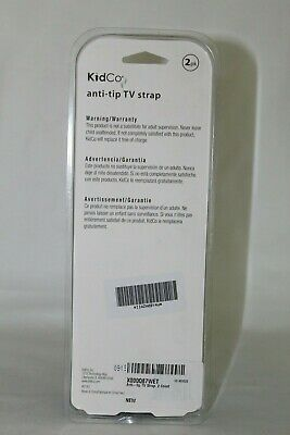 KidCo anti-tip TV strap Prevents Flat Screen TV from Tipping Over 2 Pack Black 3