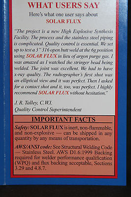 SOLAR FLUX TYPE B For Stainless Steel Welding, TIG MIG SMAW, FREE SHIPPING 1 lb. 6