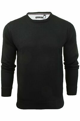 Mens Light Knitted Crew Neck Jumper Sweater Jersey Long Sleeve Brave Soul Parsec 3