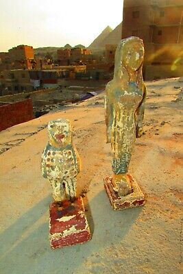 Antique Pharaonic Statues Made Of Wood, Horse And Nefertiti, Rare Made In Egypt 11