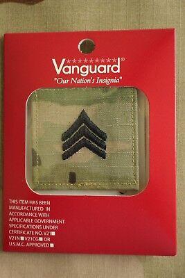 Us Army Gi Multicam Ocp E-5 Sgt Hook Back Camouflage Camo Uniform Rank Patch