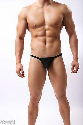 Slip String Filet Transparent Sexy Homme Viril Erotique Thong Man Underwear Uomo 2