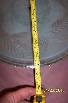 """Antique Vintage Globe Shade Blue Oversized 14"""" 3"""