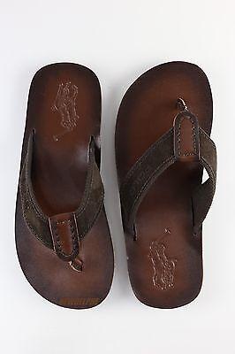 63124d9e2b43 ... NWT Polo Ralph Lauren Men s Pony Flip Flops Sandals Slipper Shoes  Leather 7