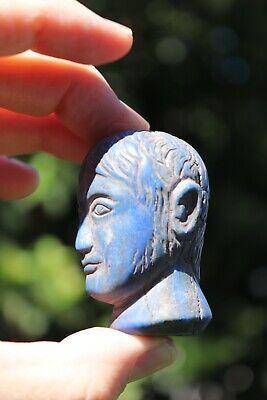 Head of the Roman Emperor, carved lapis lazuli stone, 100 BC-100 AD 7
