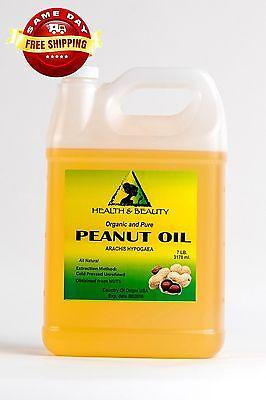 Peanut Oil Unrefined Organic Carrier Cold Pressed Virgin Raw Pure 7 Lb 10