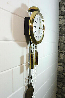 Old Comtoise Wall Clock Dutch Movement Vintage Old Clock 9