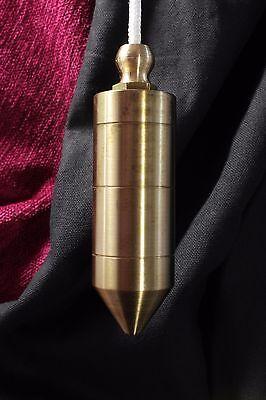 Plomada latón maciza. Completa. Plumb solid brass. Complete.