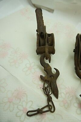 ANTIQUE HARDWARE MIXED LOT PULLEYS BELL FAUCET PORCELAIN COLD LEVER SALVAGE d 2