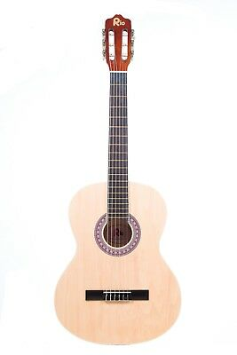 Rio 39'' Full Size 4/4 Beginner Classical Acoustic Guitar Pack Package Natural 4