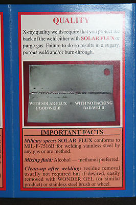 SOLAR FLUX TYPE B For Stainless Steel Welding, TIG MIG SMAW, FREE SHIPPING 1 lb. 3