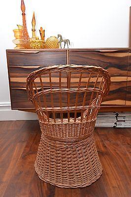 Stunning Mid Century Vintage Childrens Basket Weave Rattan Chair 3