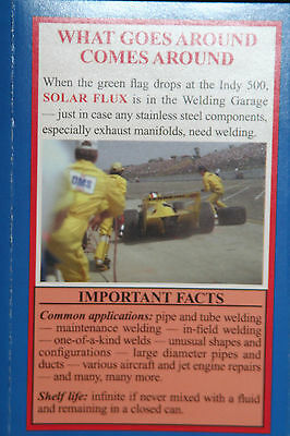SOLAR FLUX TYPE B For Stainless Steel Welding, TIG MIG SMAW, FREE SHIPPING 1 lb. 8