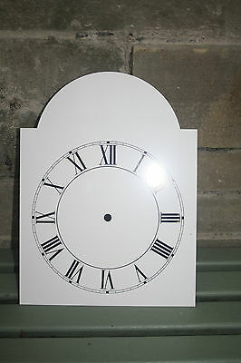 VINTAGE ENAMEL STYLE CLOCK FACE   REPLACEMENT PAINTED ON ALUMINIUM VGC m 2