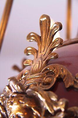 Vintage Brass/Bronze Spherical Chandelier Cherub/Masks/Stars 11