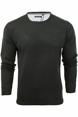 Mens Light Knitted Crew Neck Jumper Sweater Jersey Long Sleeve Brave Soul Parsec 4