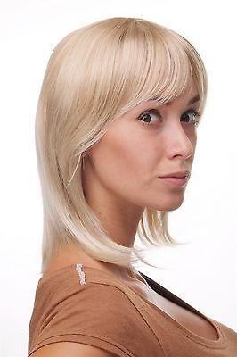 Damen Perücke Blond Wilder Schnitt Sexy Pony Halblange