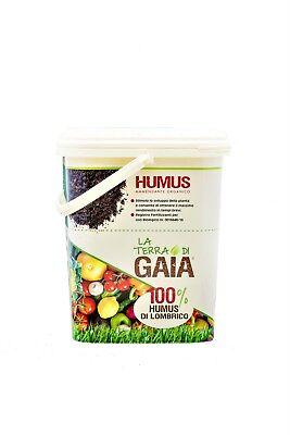 Humus di Lombrico fertilizzante naturale bio. Raffinato. Secchiello da 8,2 Litri