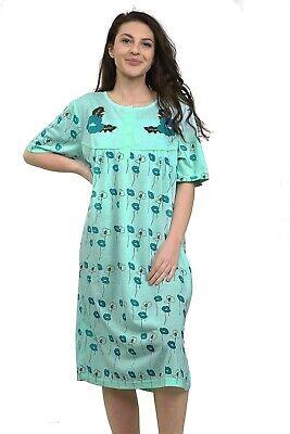 Ladies Night Gown Nightshirt Floral Short Sleeve Plus Size PJ Nightie Nightwear. 3