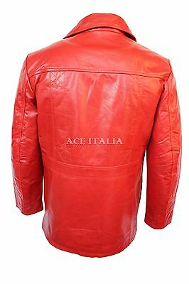 FIGHT CLUB' MEN'S RED Hollywood FILM Movie. Style Leather