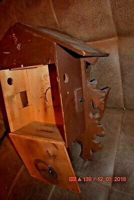 Vintage 8 day Heco Cuckoo Clock Box only for parts 10