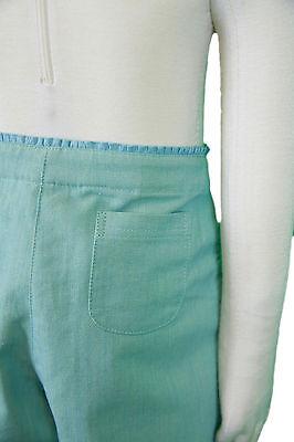 JACADI Girls Cornet Pale green 3/4 Pants w/ Floral Embroidery Sz 8 Years NWT 5