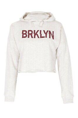 New Kids Girls BRKLYN Front Ripped Crop Hoodie Sweatshirt Pullover Top 6