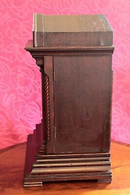 Antique Junghans Wurttemberg Bracket 8-Day Mantel Clock With Westminster Chimes 8