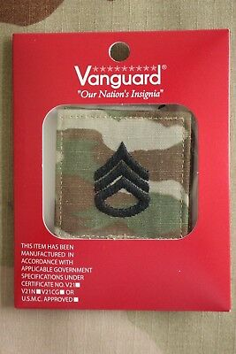 Us Army Gi Multicam Ocp E-6 Ssg Hook Back Camouflage Camo Uniform Rank Patch