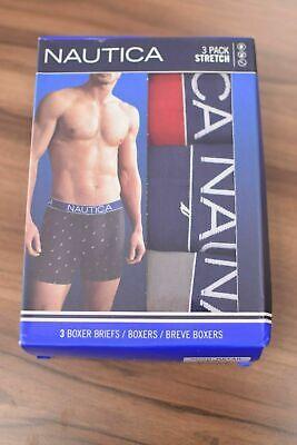 Nautica Men's 3 Pack of Assorted Stretch Boxer Briefs (Retail $50) 3
