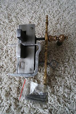 Vintage / antique beautiful large metal door lock with key,handle working order 4