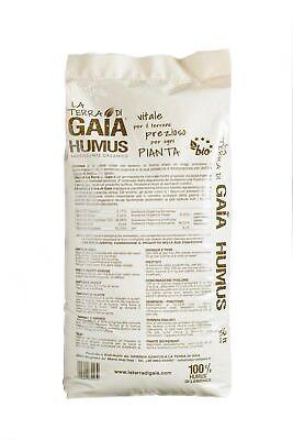 100% Humus di Lombrico fertilizzante naturale e biologico. Sacco 22 litri/ 12 Kg