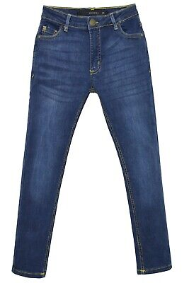 NEW Boys Kids Stretch Jeans Denim Skinny FIT Pants Trousers Age 7-13 Years BLUE 3