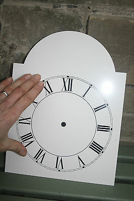 VINTAGE ENAMEL STYLE CLOCK FACE   REPLACEMENT PAINTED ON ALUMINIUM VGC m 3
