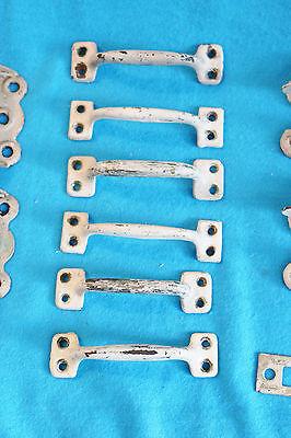 Vintage Lot Door Hinges, Drawer Handles, Window Locks, Etc 4