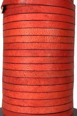 Flat 3, 4, 4x2, 5mm Real Genuine Craft Jewellery Leather String Cord Lace Thong 8